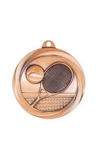 """Tennis Medal Vortex 2"""" Bronze"""