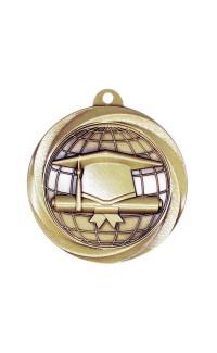 "Graduation Medal Vortex 2"" Gold"