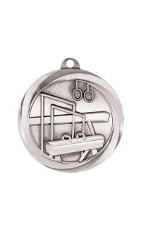 """Gymnastics Medal Vortex 2"""" Silver"""