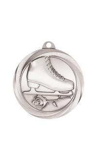 """Figure Skating Medal Vortex 2"""" Silver"""