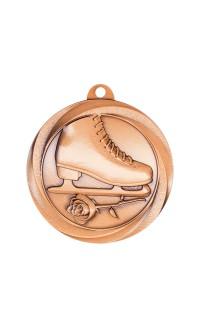 """Figure Skating Medal Vortex 2"""" Bronze"""
