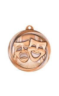 """Drama Medal Vortex 2"""" Bronze"""