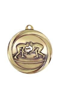 """Wrestling Medal Vortex 2"""" Gold"""