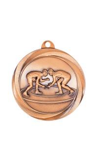 """Wrestling Medal Vortex 2"""" Bronze"""