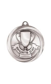 "Sports Day Medal Vortex 2"" Silver"