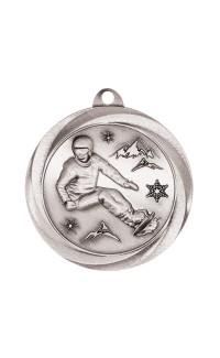"Snowboarding Medal Vortex 2"" Silver"