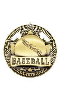 "Medal Sport 2.75""  Patriot Baseball Gold"