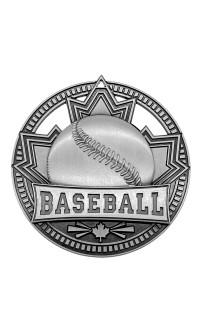 """Medal Sport 2.75""""  Patriot Baseball Silver"""
