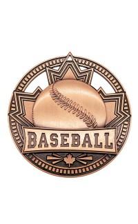 "Medal Sport 2.75""  Patriot Baseball Bronze"