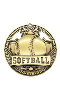"Softball Medal Patriot 2.75"" Gold"
