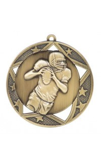 "Medal Galaxy 2.75"" Football Gold"
