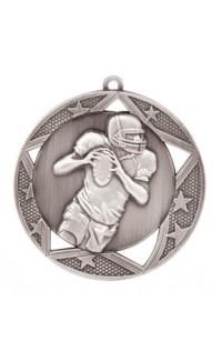 "Medal Galaxy 2.75"" Football Silver"