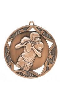 "Medal Galaxy 2.75"" Football Bronze"