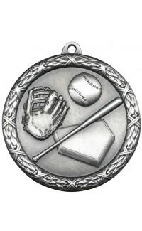 "Medal Classic 2.5"" Baseball Silver"