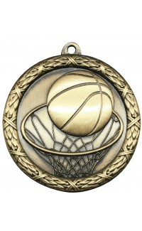 """Medal Classic 2.5"""" Basketball Gold"""