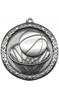 """Medal Classic 2.5"""" Basketball Silver"""