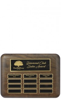 Annual Plaque Walnut Horizontal 12 Plate  9x12