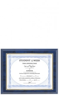 Gold Border Certificate Plaque