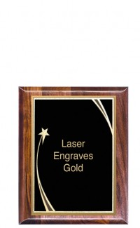 """Shooting Star Series Plaque with Plate, 8"""" x 10"""""""