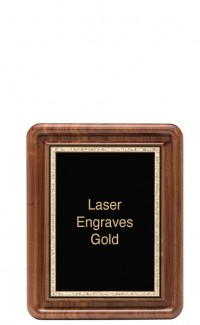 """Classic Series Walnut Plaques With Plate, 8""""x10"""""""