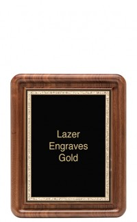 """Classic Series Walnut Plaques With Plate, 9""""x11"""""""