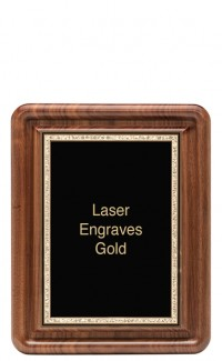 """Classic Series Walnut Plaques With Plate, 10""""x13"""""""