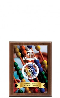 "Classic Series Walnut Plaque with Sublimated Plate 7""x9"""