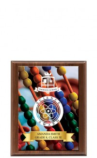 "Classic Series Walnut Plaque with Sublimated Plate 8""x10"""