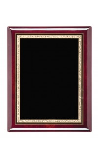 """Rosewood Piano Finish Plaques With Plate, 9""""x12"""""""