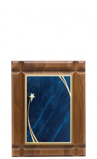 """Deep Groove Walnut Plaque with Plate, 8""""x10"""""""