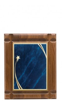 """Deep Groove Walnut Plaque with Plate, 9""""x11"""""""