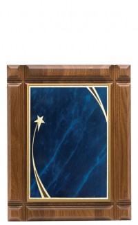 """Deep Groove Walnut Plaque with Plate, 10""""x13"""""""