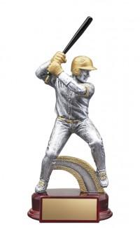 "Resin Classic Male Baseball Silver/Gold 8.5"""