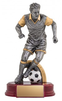 """Resin Classic Male Soccer Silver/Gold 6.5"""""""