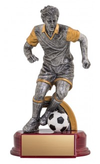 """Resin Classic Male Soccer Silver/Gold 8.5"""""""