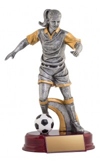Resin Classic Female Soccer Silver/Gold 6.5""
