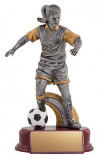 "Resin Classic Female Soccer Silver/Gold 8.5"""