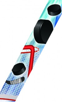 Hockey Spectrum Neck Ribbon