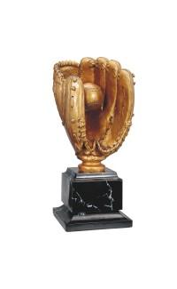 "Baseball Glove Resin with Base, 15.5"""