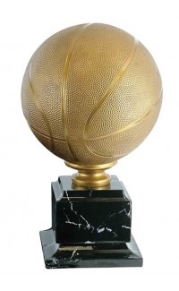 """Resin Basketball Gold with Base, 15.25"""""""