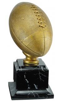 """Resin Football Gold with Base, 14"""""""