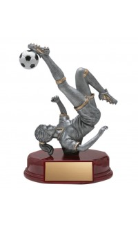 Resin Soccer Bicycle Kick, Female Small