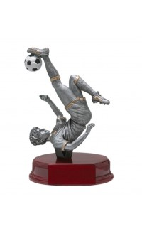 Resin Soccer Bicycle Kick, Male Small