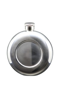 5 oz Flask Stainless Steel Round Baseball