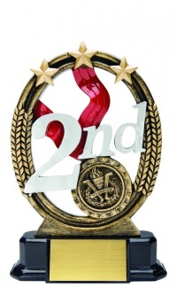 Second Place Resin Tri Star, 7""