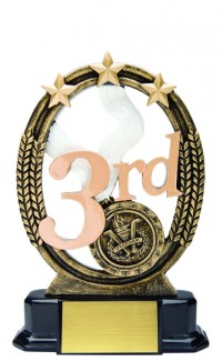 Third Place Resin Tri Star, 7""