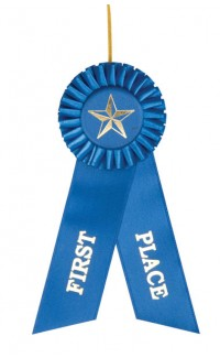 """First Place Rosette, 3""""x8"""""""