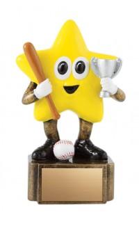 """Baseball Resin Little Star, 4.75"""""""
