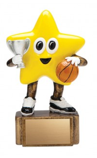 """Basketball Resin Little Star, 4.75"""""""