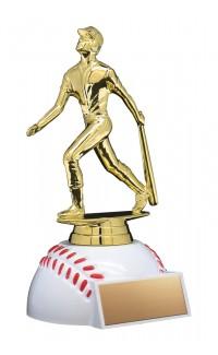 """Baseball Figure on Baseball Base, 6.5"""""""